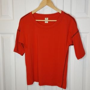 Gaiam Red Yoga Tee